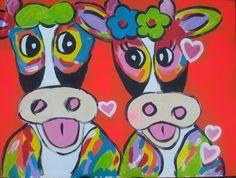 Vrolijke  Verliefde koeien