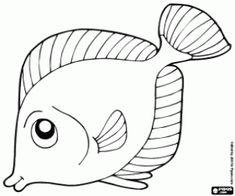 desenho de Peixe tropical para colorir