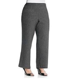 Women's plus size pull on dress pants