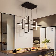 Zen Squarish - Modern Pendant LED Price: 11322.00 & FREE Shipping #ihomedesign Dining Room Light Fixtures, Dining Room Lighting, Rustic Lighting, Pendant Light Fixtures, Bar Lighting, Home Lighting, Modern Lighting, My Home Design, Small House Design