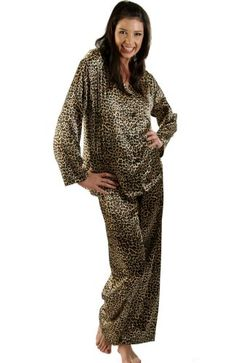 Women`s Classic Satin Pajama Set and Sleep Mask, 16 Colors/Prints Available $29.99