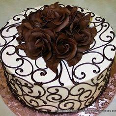 Super Ideas For Cupcakes Recipes White Buttercream Frosting Cake Decorating Designs, Cake Decorating Techniques, Cake Designs, Cookie Decorating, Pretty Cakes, Beautiful Cakes, Amazing Cakes, Decoration Patisserie, Elegant Desserts