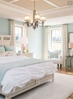 Aqua Blue And White Bedroom aqua blue coastal bedroom | beautiful bedrooms | pinterest