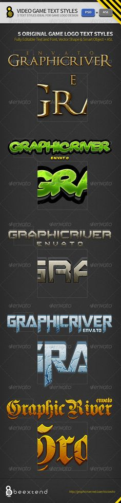 Video Game Logo Text Styles