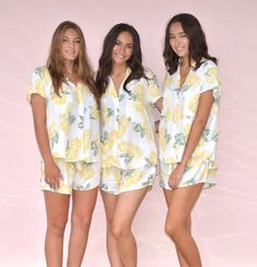 "Possibly the best bridesmaid gift idea! Popular Maggie Pajama Set in Hydrangea Yellow $49 ~ super soft and feminine, making it perfect to wear in ""getting ready"" wedding photos! Shop it via the Piyama Bridal Etsy Boutique. @piyamasleepwear"