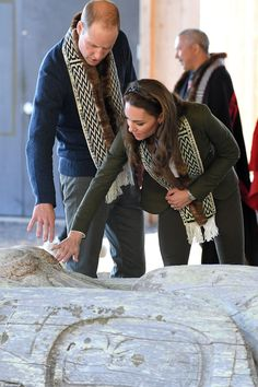 After learning about the totem pole carving, William and Kate enjoyed a lunch made with fr...