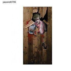 Halloween zombie scary  DOOR POSTER fancy dress decoration 6ft x 3ft free ship