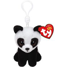 The Clip-On Baboo Beanie Boos Panda Plush looks like a mini panda with glitter blue eyes. Make your Beanie Boos party a memorable one by sending guests home with this panda keychain! Beanie Boo Party, Ty Beanie Boos, Beanie Babies, Plush Dolls, Doll Toys, Panda Party, Soft Dolls, Sing Movie, Animals