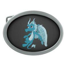 Belt Buckle with dragon cartoon