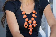 Bubble Statement Necklaces! Fall Colors in Regular Size! 55% off at Groopdealz