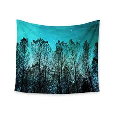 """""""Dark Forest"""" by Sylvia Cook Wall Tapestry 