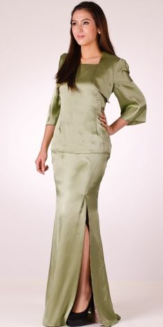 De Enclosed Dress  ~ 100% made from satin, modern kurung. 50% off!