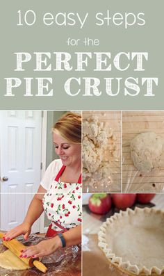 Make the perfect pie~ 10 Easy Steps for the Perfect Homemade Pie Crust Pie Recipes, Sweet Recipes, Cooking Recipes, Just Desserts, Delicious Desserts, Perfect Pie Crust, Homemade Pie Crusts, No Bake Pies, Crust Recipe