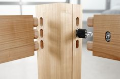 Festool's engineers have exploited the mortise-cutting capabilities of the Domino by creating knockdown fasteners that can be inserted the same way as loose tenons