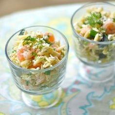 This shrimp and feta orzo is such a fresh, easy meal that only takes a matter of minutes. Serve it as a main dish or pasta salad for a yummy spring meal! | pinchofyum.com