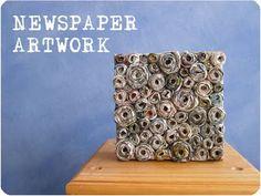 muurdecoratie met krantenpapier