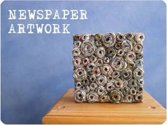 Recycling craft: Newspaper Canvas