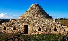 Construcciones típicas  de Menorca Menorca, Balearic Islands, Jewel, Dry Stone, Calla Lilies, Blue, Gem, Jewels, Jewerly