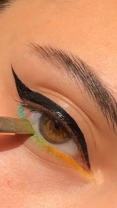 Edgy Makeup, Makeup Eye Looks, Eye Makeup Steps, Eye Makeup Art, Cute Makeup, Smokey Eye Makeup, Eyeshadow Looks, Skin Makeup, Eyeshadow Makeup