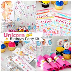 Are you looking for a fun and easy party idea? Does your daughter love unicorns, rainbows, hearts, or the color pink? Then this is the PERFECT birthday kit! This is the ULTIMATE birthday printable kit for girls! Everything you need to throw a great party is here, even games!! All you have to do is print, cut, and decorate!!  Heres whats included in this mega kit:  ★ Happy Birthday Banner: Just print, cut, and then use twine or ribbon to string it where ever you want it!  ★ Full Alphabet…