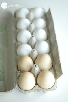 When you make hard-boil eggs, put a few drops of balsamic vinegar in the water to slightly tint the shells. That way you can tell the difference between hard-boiled and raw eggs in the carton.