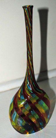 Mid Century Murano Glass Bud Vase