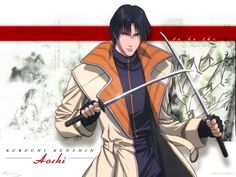 Aoshi Shinomori from Rurouni Kenshin. He is a ninja like Misao