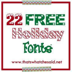22 Free holiday fonts from ng ng ng Bellanca Bellanca Thomas's What Che Said Holiday Fonts, Christmas Fonts, Christmas Printables, Christmas Time, Christmas Ideas, Christmas Cooking, Christmas Quotes, Christmas Activities, Christmas Ornaments