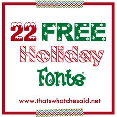 22 Free Holiday Fonts