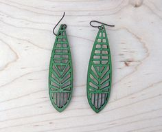 Shop for earrings on Etsy, the place to express your creativity through the buying and selling of handmade and vintage goods. Wooden Earrings, Wooden Jewelry, Leather Earrings, Leather Jewelry, Leather Craft, Diy Jewelry, Handmade Jewelry, Jewelry Design, Jewelry Making