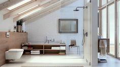 Diseñar una ducha sin limitaciones de espacio.