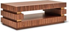 Belicia Coffee Table, Walnut/Brass - Coffee Tables - Living Room - Furniture One Kings Lane ,