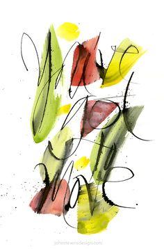 Calligraphic Projects by John Stevens, via Behance Calligraphy Words, How To Write Calligraphy, Calligraphy Alphabet, Modern Calligraphy, Typography Served, Typography Quotes, Typography Poster, Simple Flower Drawing, John Stevens