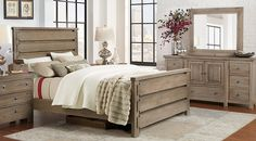 Summer Grove Gray 7 Pc Queen Panel Bedroom from  Furniture
