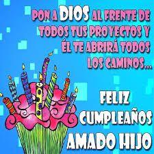 Resultado de imagen para feliz cumpleaños hijo Happy Birthday Messages, Birthday Wishes, Everyday Prayers, Birthdays, Quotes, Banksy, Club, Facebook, Memes
