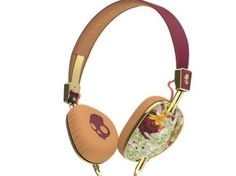 Skullcandy Knockout Women's On-Ear Headphones with Mic & Remote, Floral/Burgundy/Rose Gold Skullcandy Headphones, Cute Headphones, Sports Headphones, Headset, Streetwear, Aux Cord, Headphone With Mic, New Girl, Rose Gold