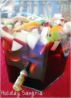 The BEST sangria recipe for your holiday party! Holiday Sangria http://ameessavorydish.com/holiday-sangria/