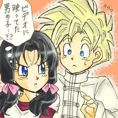 Gohan x Videl Dragon Ball Z, Tarzan Y Jane, Videl Dbz, Anna Blue, Dbz Characters, Kawaii, Anime Love, Fan Art, Cartoon
