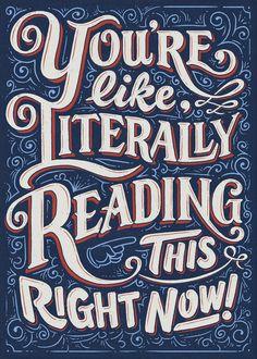 Literally reading - David Leutert on Behance