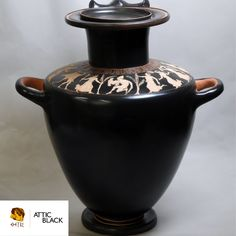 ATTIC BLACK features iconic, handmade pottery showcasing the Grecian heritage & culture. Handmade Pottery, Home Decor, Decoration Home, Room Decor, Handmade Ceramic, Interior Decorating