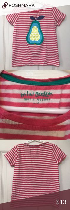 Mini Boden girls tee Girls size 4-5 Y.   Mini Boden tee in very good condition.  Only worn 1-2 times.  No stains Mini Boden Shirts & Tops Tees - Short Sleeve