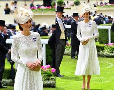 The Duchess of Cambridge Was A Vision in White at The Royal Ascot Races 2016