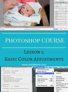 Photography tips | photoshop tips, photoshop tutorial, photoshop basics, photoshop basic color adjustment, The basics of Photoshop: Photoshop 101