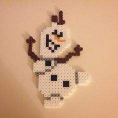 Olaf Frozen hama beads by maries_perlerart
