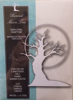 99029 Memory Box 100% Steel Craft Die Harvest Moon Tree