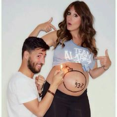 "Image search result for ""Pregnancy couple photo"" - Babybauch Shooting - Pregnant Women Maternity Photography Poses, Maternity Session, Photos Prénatales, Pregnancy Humor, Funny Pregnancy Photos, Couple Pregnancy Pictures, Funny Maternity Pictures, Pregnancy Info, Pregnancy Clothes"