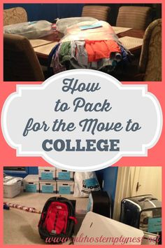 How to Pack for the Move to College
