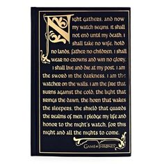 Game of Thrones  Night's Watch Oath Journal