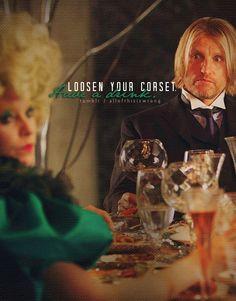 Haymitch and Effie.