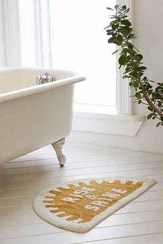 Shop 4040 Locust Rise & Shine Bath Mat at Urban Outfitters today. Diy Bathroom Decor, Bathroom Rugs, Bath Rugs, Bathroom Ideas, Bath Decor, Shower Accessories, Diy Vanity, Bath Mat Sets, Home Decor Inspiration